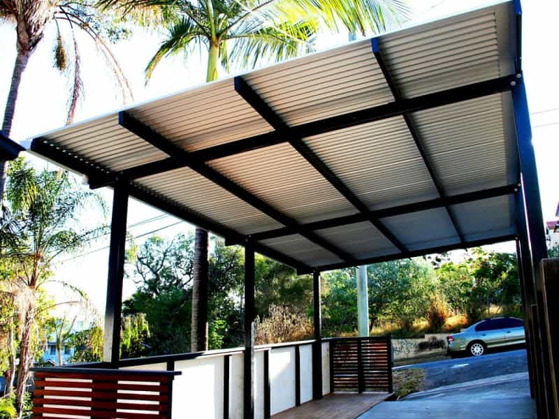 Carport with Balustrading