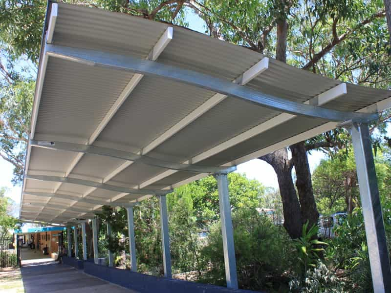CW2 Waved Roof Covered Walkway