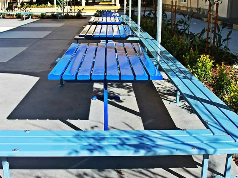 SB.3 Lunch Area Table With Bench Seating