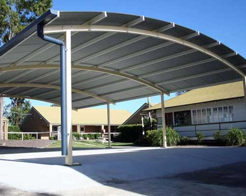 Curved Roof Lunch Area