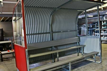 DC5W Dugout With 3 Tier Grandstand