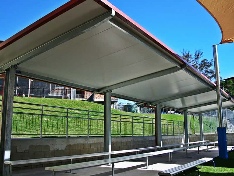 Cantilevered Structure with Insulated Roofing