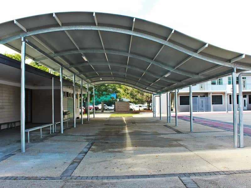 Wave Roof Shade Structure