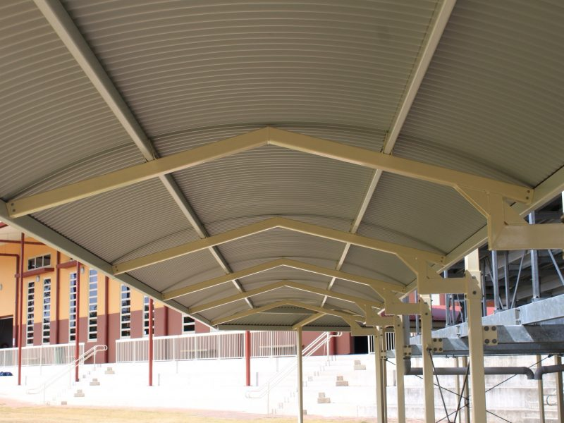 Curved Roof Cantilevered Walkway