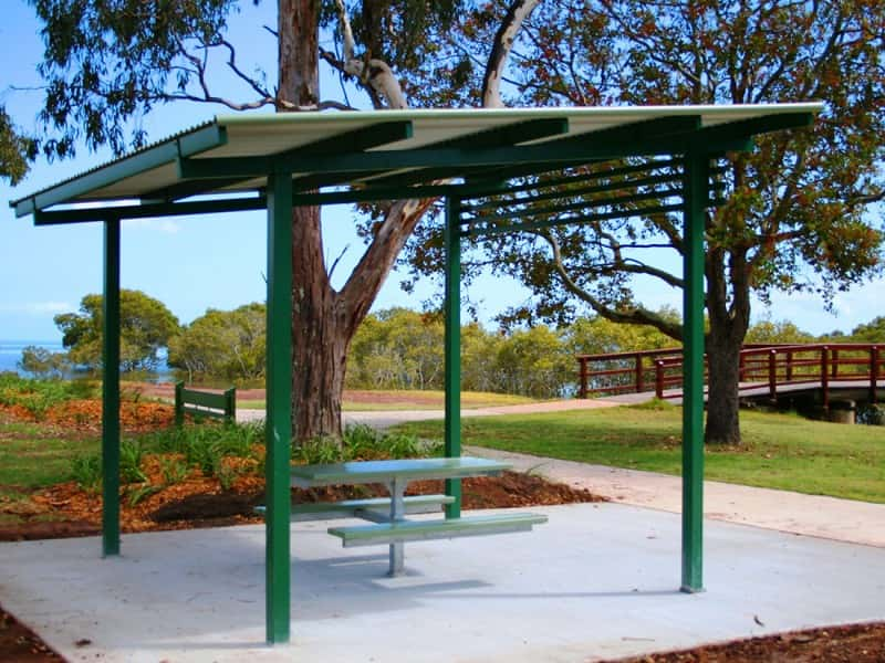 Skillion Roof Picnic Shelter With Batten Features