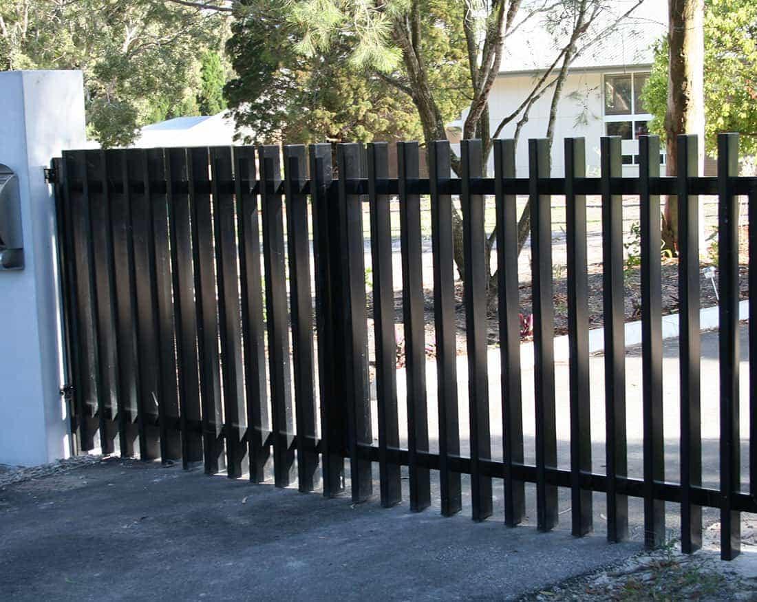 Metal picket fences 44