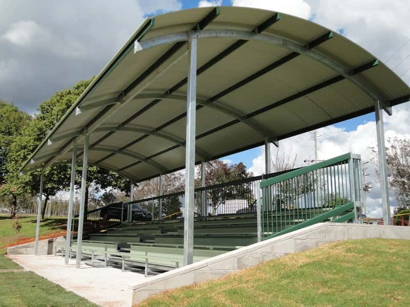 Curved Roof Seating Shelter