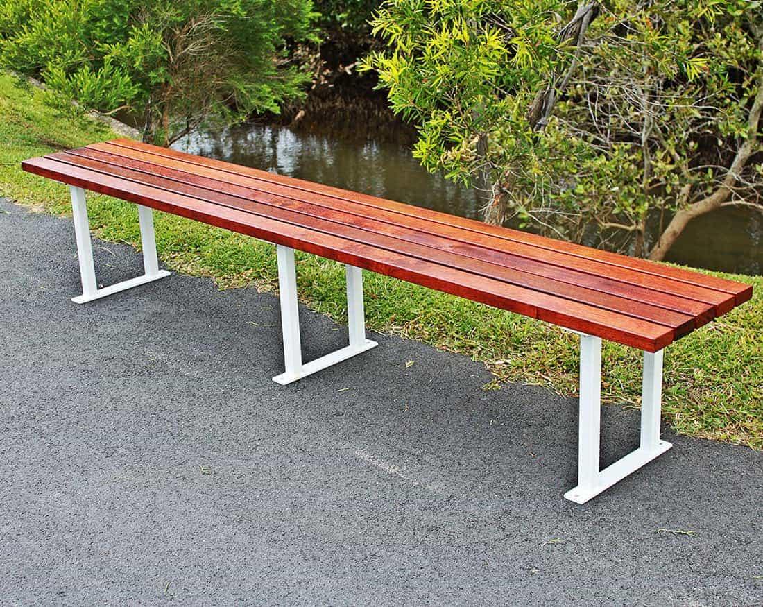 Sbk 5 bench seat kwila timber