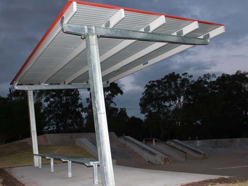 Cantilevered Skate Park Shelter