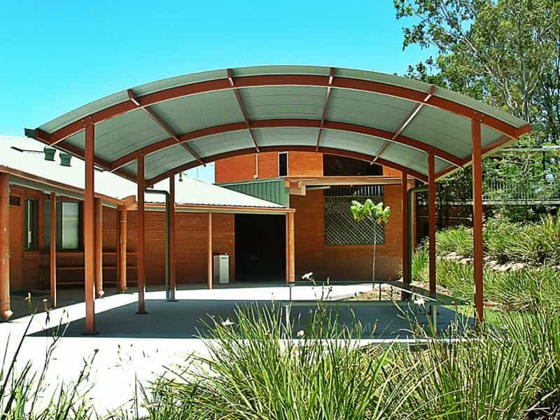 Curved Roof Shade Structure
