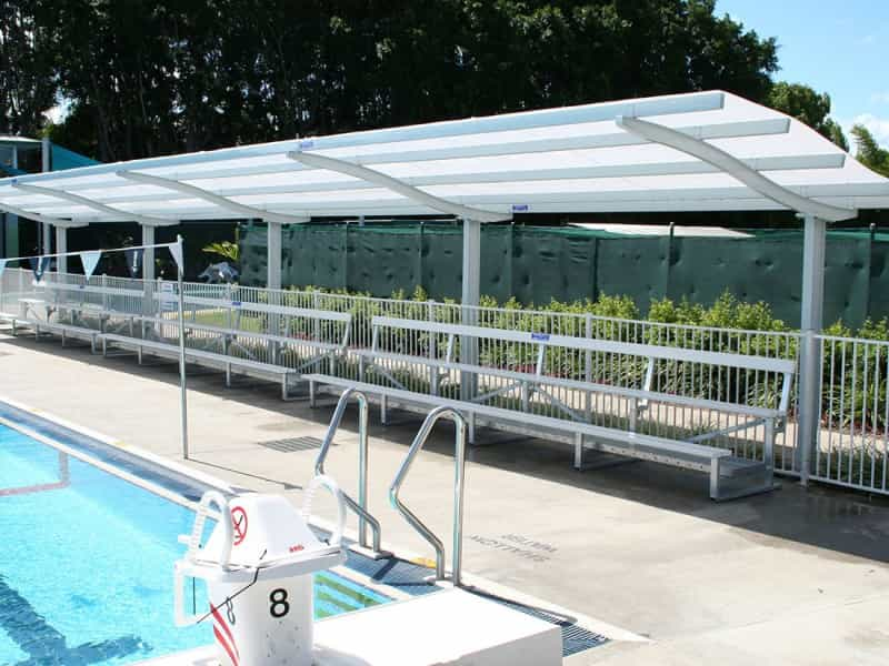 Wave Roof Shelter with Poly Roofing