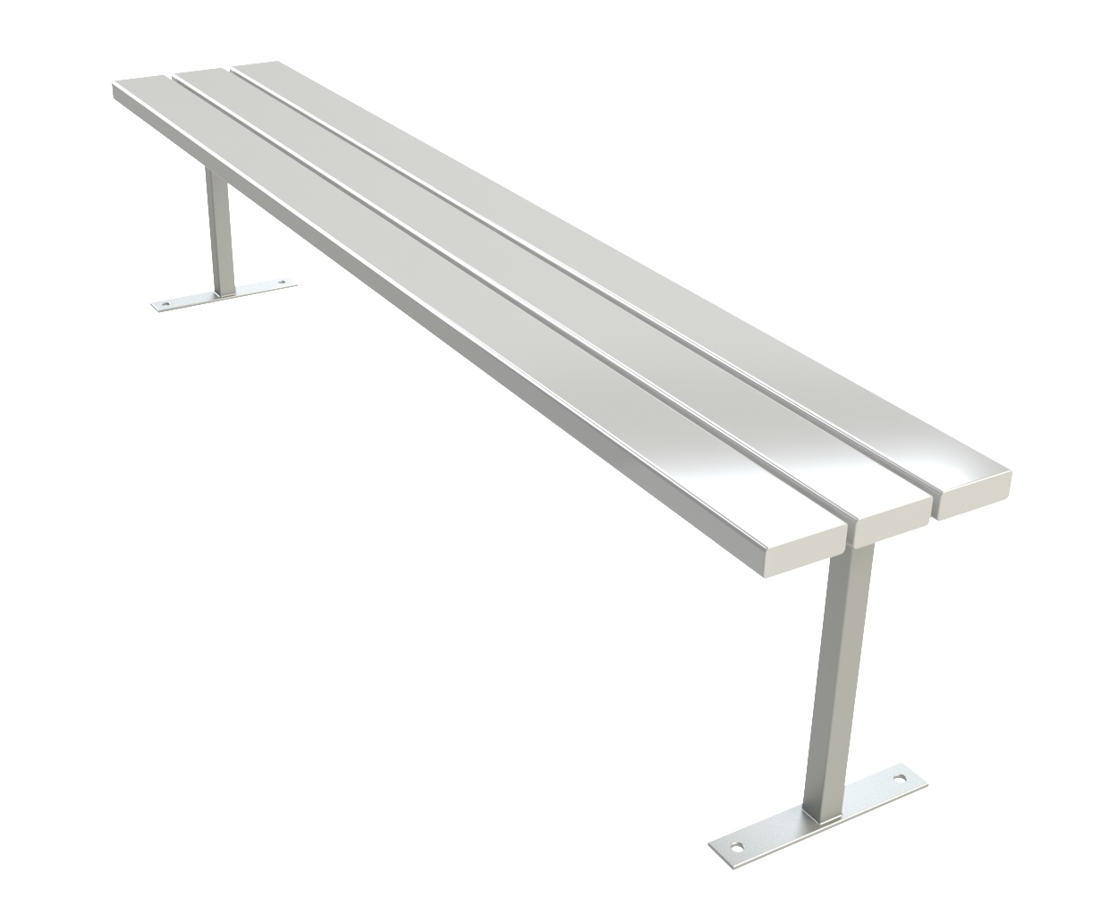 GALVANISED STEEL 3 RAIL BENCH SEAT
