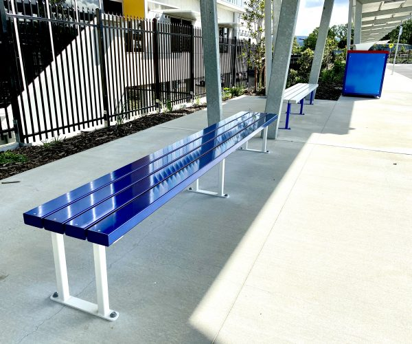 Aluminium 4rail Anodised - School pickup bench seats
