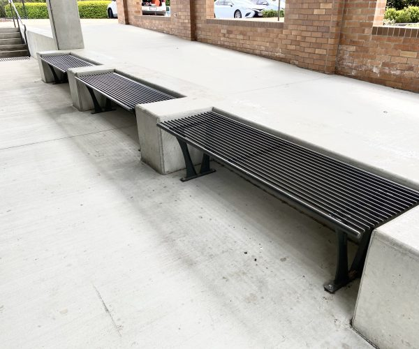 Heavy dity mild steel round bar bench - twopack epoxy paint system