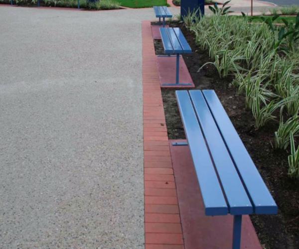 aluminium bench seating