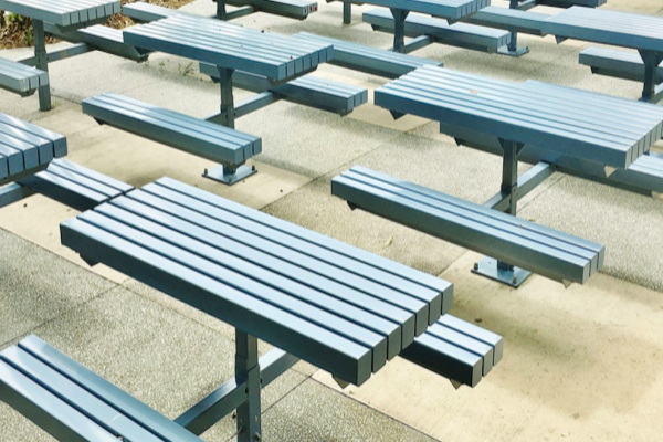 lunch table seats settings school